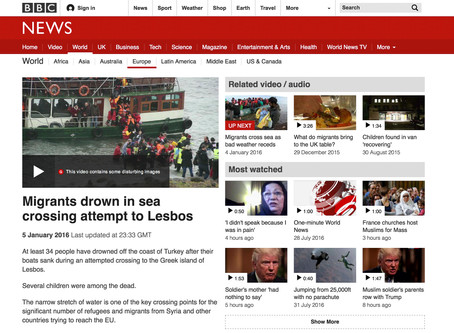 BBC Broadcast: Migrants drown in sea crossing attempt to Lesbos