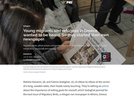 Young migrants and refugees in Greece wanted to be heard. So they started their own newspaper.