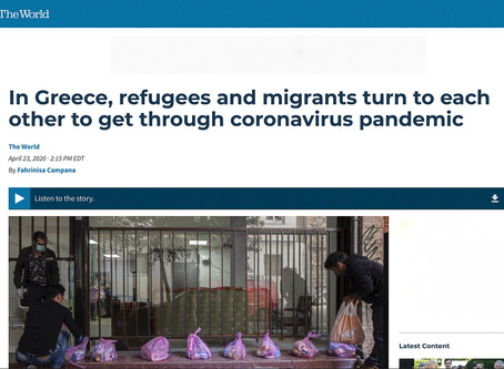 In Greece, refugees and migrants turn to each other to get through coronavirus pandemic