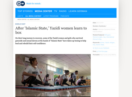 After 'Islamic State' Yazidi women learn to box