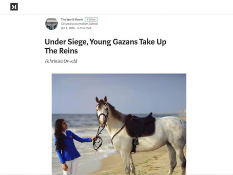 Under Siege, Young Gazans Take Up The Reins