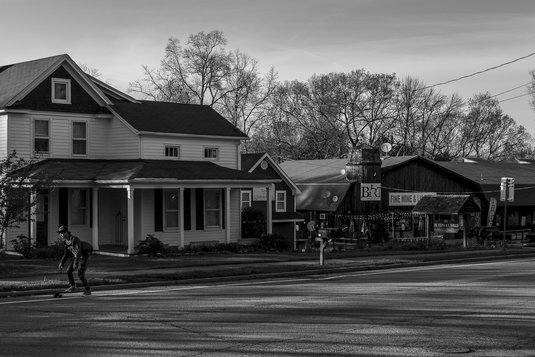 Chestnut Ridge Rd, also known as Route 45, is the main street that cuts through Chestnut Ridge, a small town in the suburbs of New York.