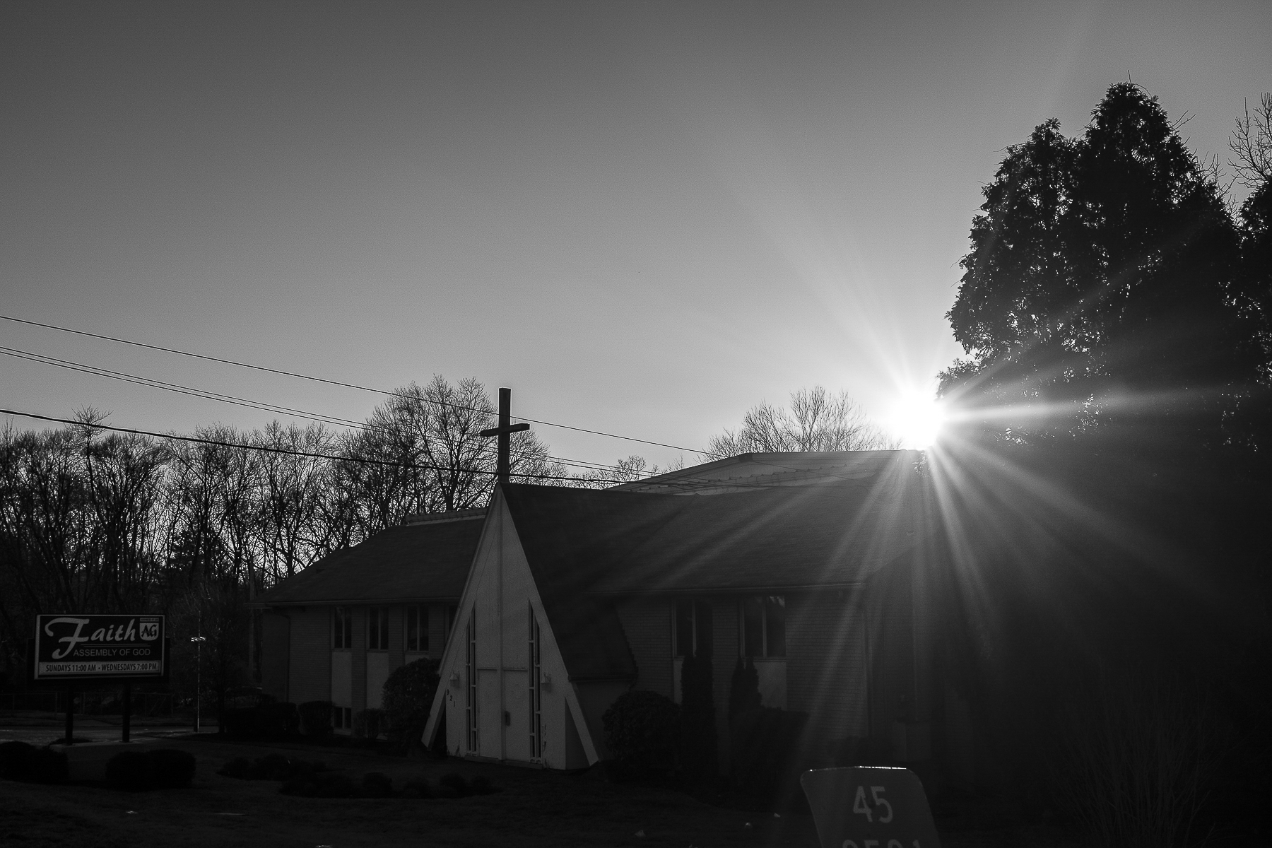 Also on Chestnut Ridge Road sits one of the few churches in town.