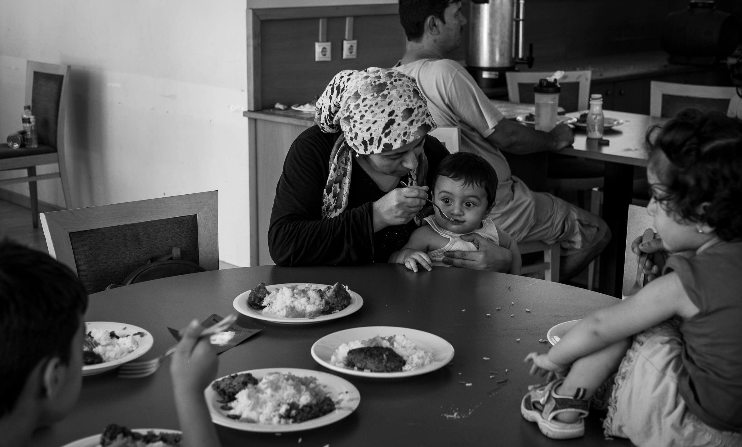 Maryam Sheikh Mohammed, 27, from Hasakah, Syria, made the journey to Greece by boat with her husband and four children, the youngest of whom was only seven months old.