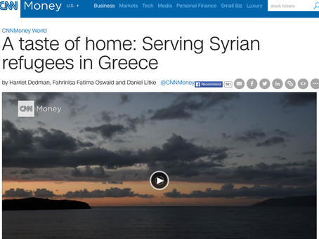 CNN: A taste of home: Serving Syrian refugees in Greece