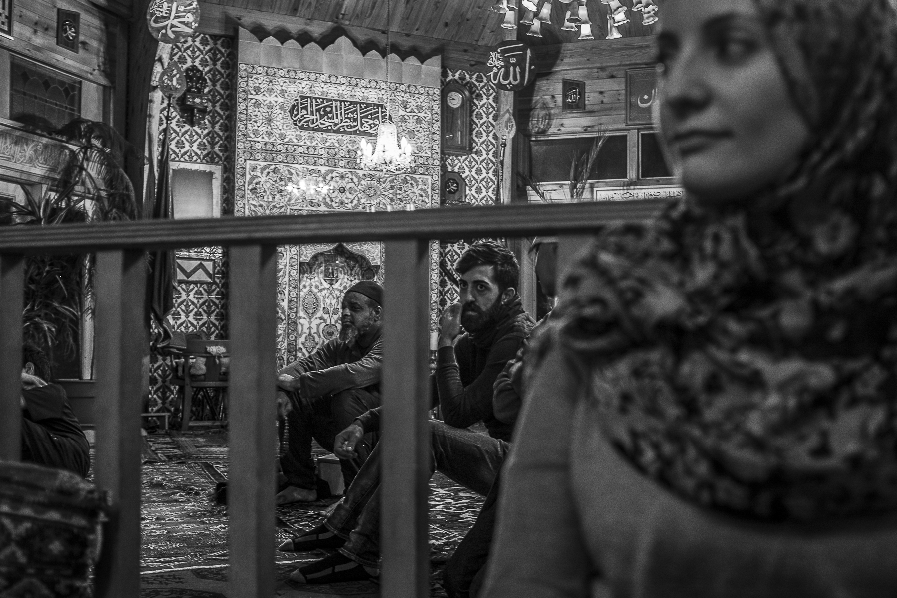 Men and women from Jordan, Syria and Bangladesh sit, barely separated by a wobbly hand rail, on the floor of the mosque listening to sheikh Tosun Bayrak give his weekly Sohbet—a talk ranging in topics that he delivers to his followers after dinner and before the ceremonies begin.