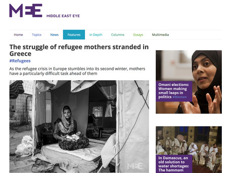 The Struggle of Refugee Mothers Stranded in Greece