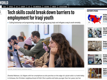 Tech skills could break down barriers to employment for Iraqi youth