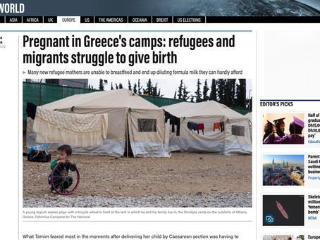 Pregnant in Greece's camps: refugees and migrants struggle to give birth