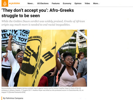 'They don't accept you': Afro-Greeks struggle to be seen