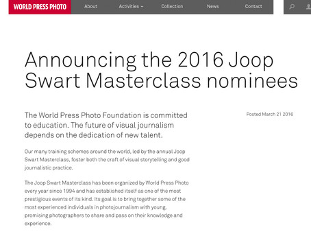 Award: Announcing the 2016 Joop Swart Masterclass nominees
