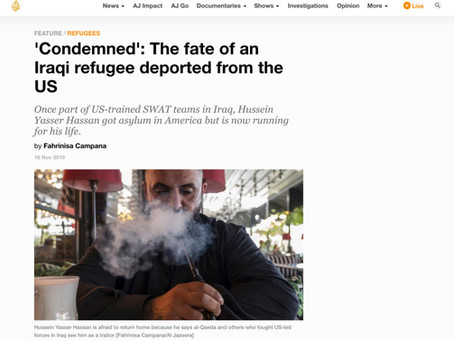 'Condemned': The fate of an Iraqi refugee deported from the US