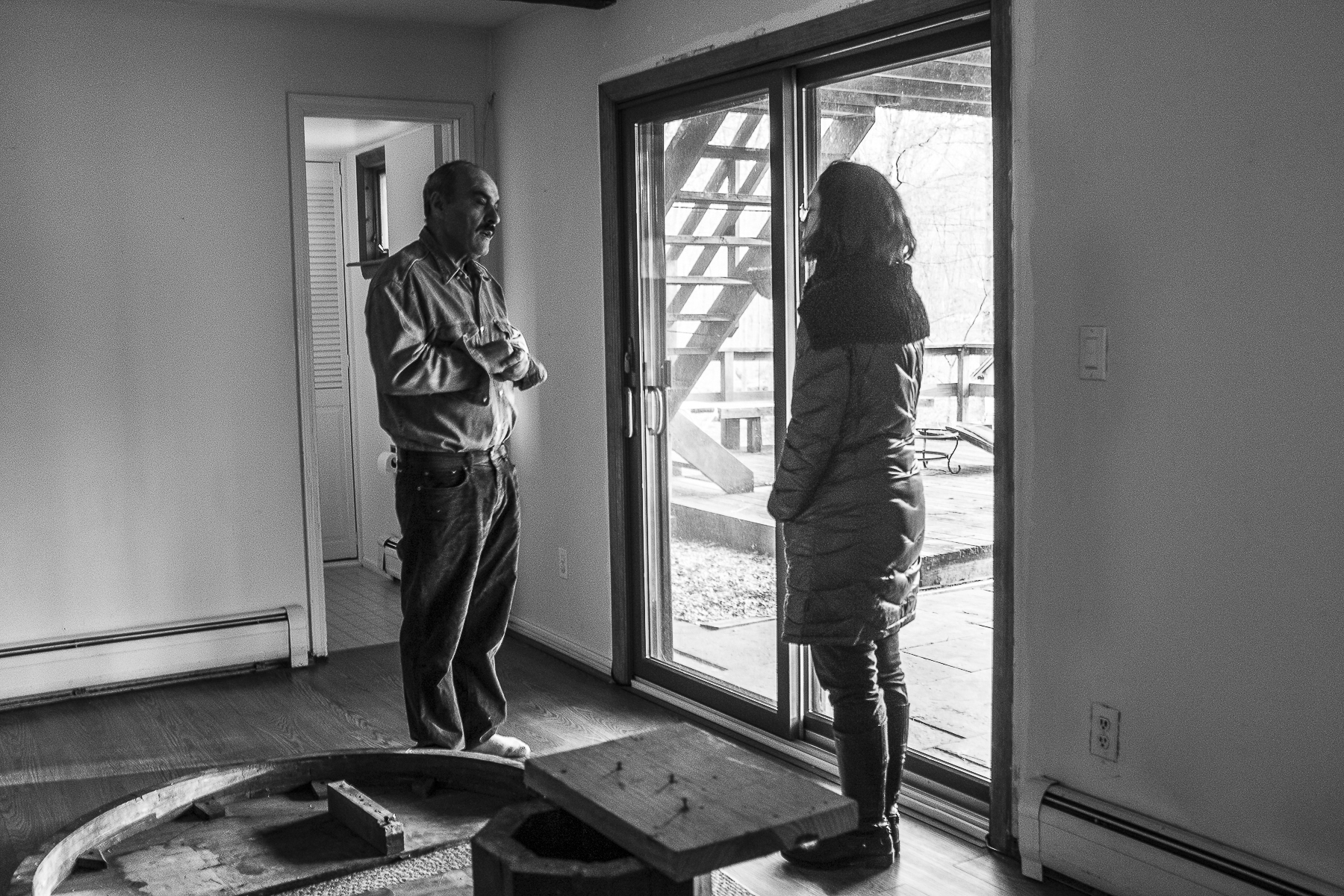Wasek Safieh, from Damascus, Syria has lived in America since the 90s. He works as a real estate developer. Here, Wasek shows Aisha, also a real-estate developer, his newest purchase.