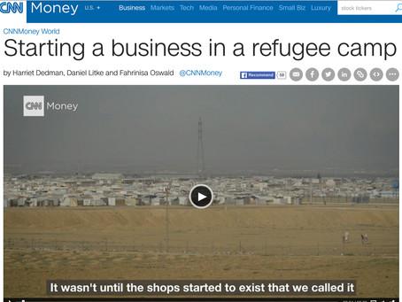 CNN: Starting a Business in a Refugee Camp