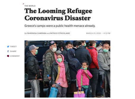 The Looming Refugee Coronavirus Disaster