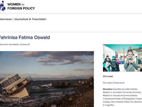 Women In Foreign Policy: Interview