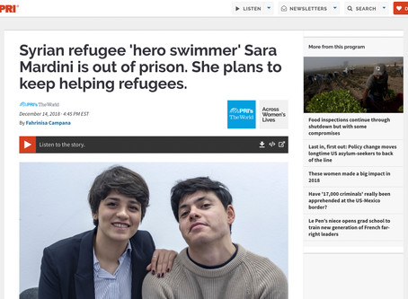 Syrian refugee 'hero swimmer' Sara Mardini is out of prison. She plans to keep helping refugees.