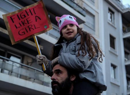 Women's March on Washington - Athens, Greece, 2017
