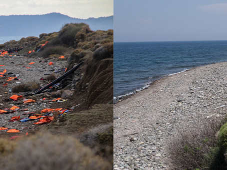 Lesvos Then and Now, 2015 - 2017