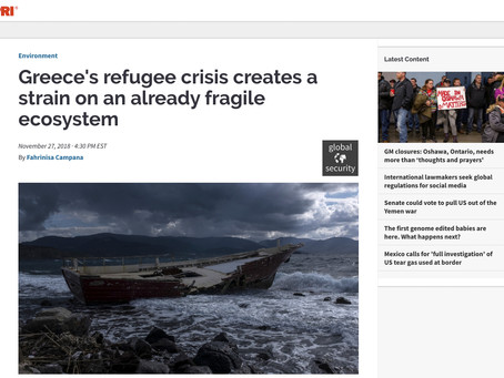 Greece's refugee crisis creates a strain on an already fragile ecosystem