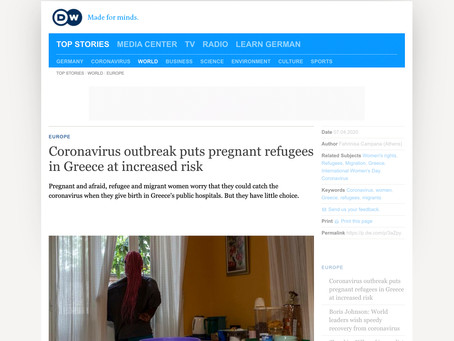 Coronavirus outbreak puts pregnant refugees in Greece at increased risk