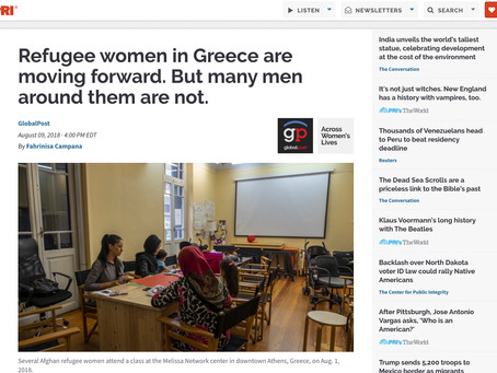 Refugee women in Greece are moving forward. But many men around them are not.