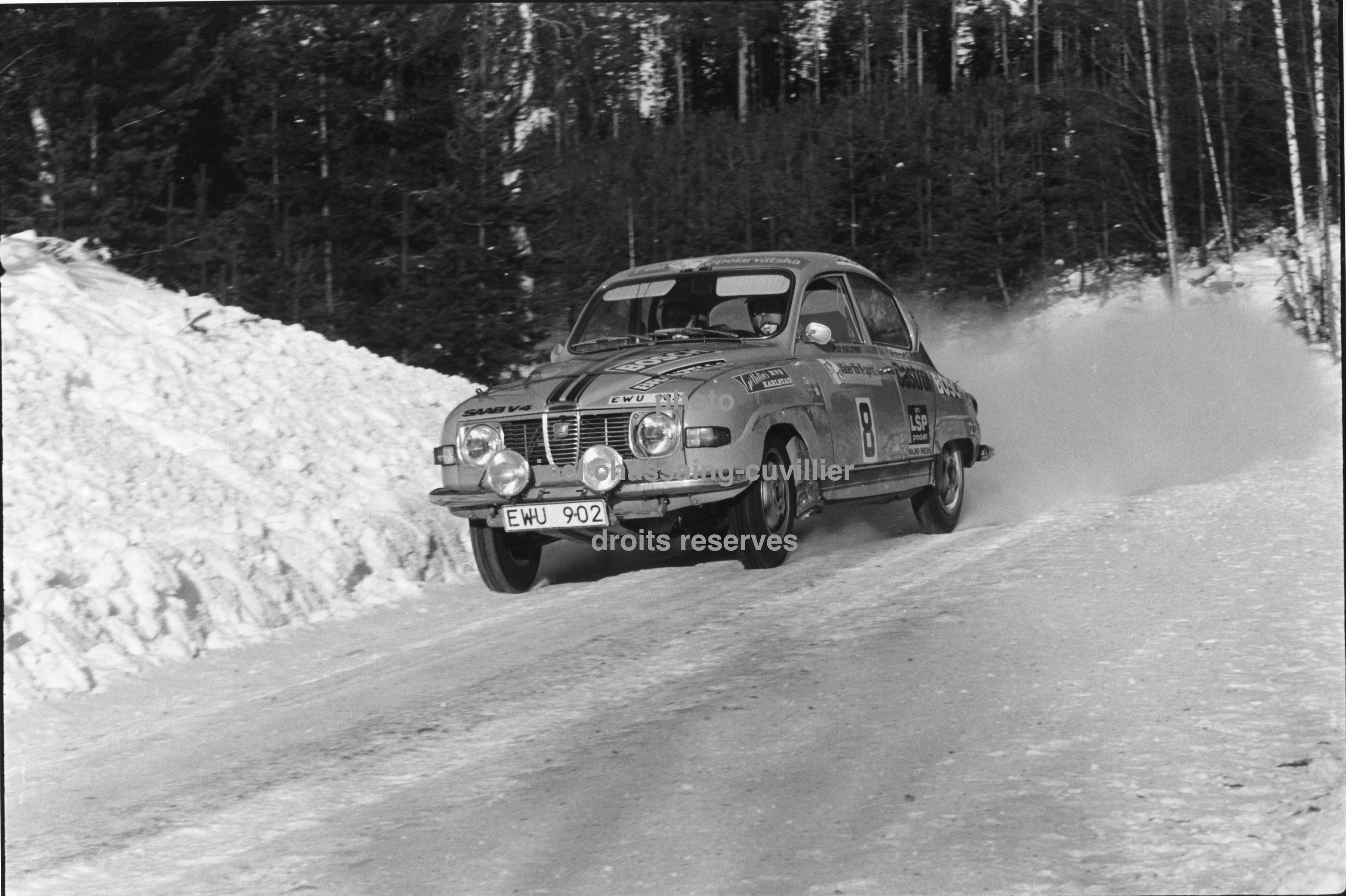 Swedish rally Per Eklund Saab 96