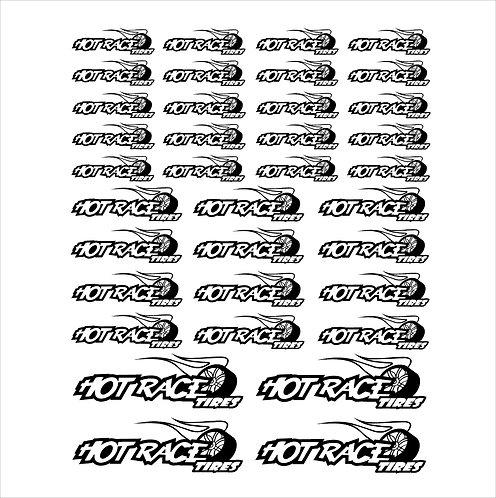 Kit Adesivi foglio A4 da 36 pezzi HotRace Varie dimensioni