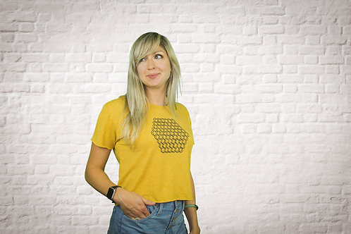 Woman's Hopiary Cropped Tee