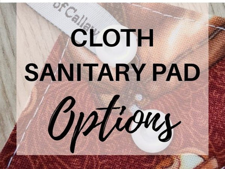 Wingless or Snapless Cloth Pad Options