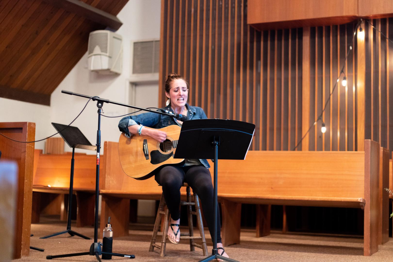 Sabrina Gauer leads worship