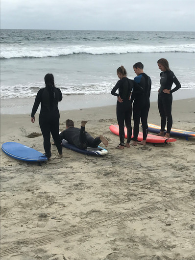 Free time surf lessons with instructor Ben
