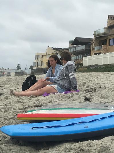 Saturday free time at Carlsbad Beach!