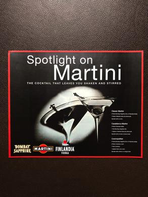 Bacardi Martini retail POS