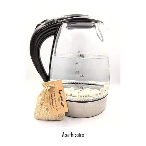 Perles Ceramique pour Bouilloire, idéales pour limiter l'adhérence du calcaire. Ceramique EM Apothicaire