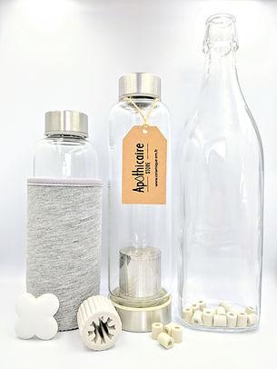 Perles de ceramique Apothicaire pour filtrer l'eau du robinet. Stop au plastique. A mettre dans sa carafe, pichet, bouilloire, lave-vaiselle, lave-linge, cafetière. Tube de ceramique EM