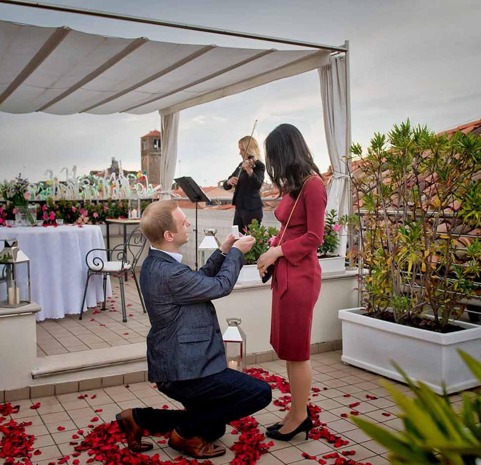 Venise Italie demande en mariage meilleu
