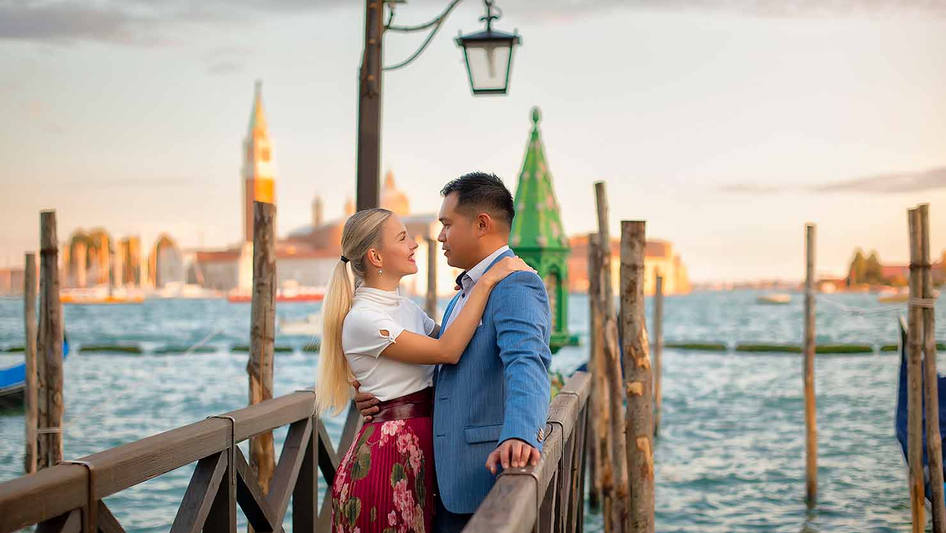 shooting demande en mariage a venise  (2