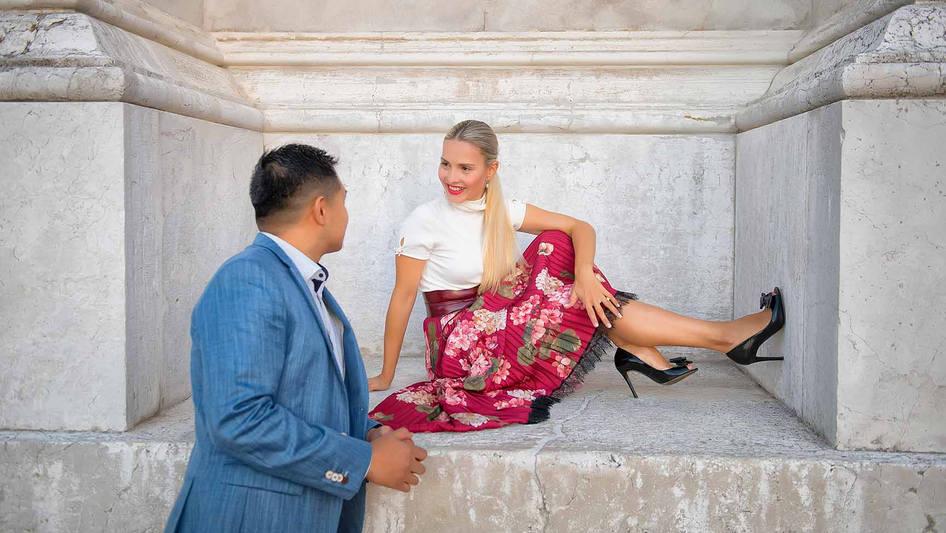 shooting demande en mariage a venise  (1