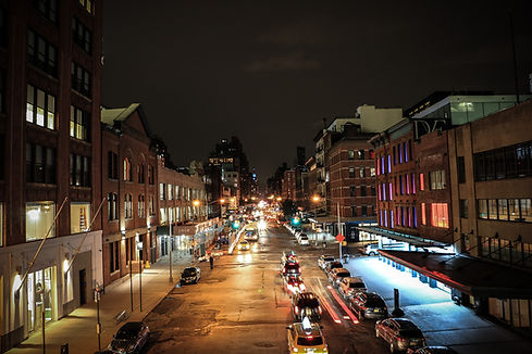View from High Line NY Night shot