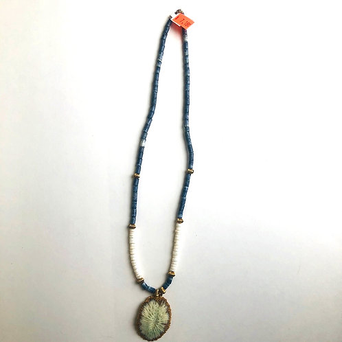 Gold Highlighted Shell Necklace
