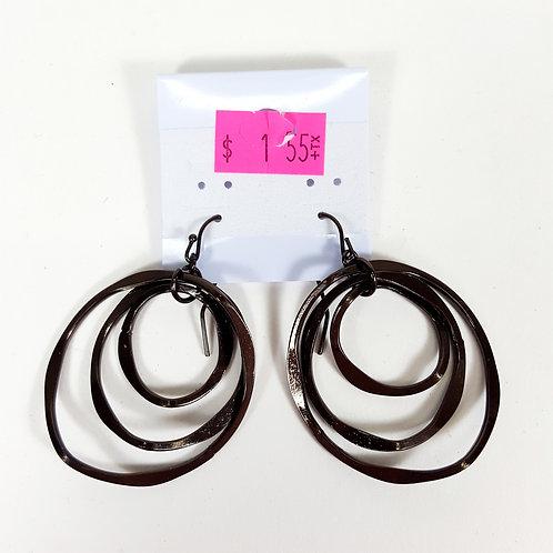 Metal Multi Hoop Earrings