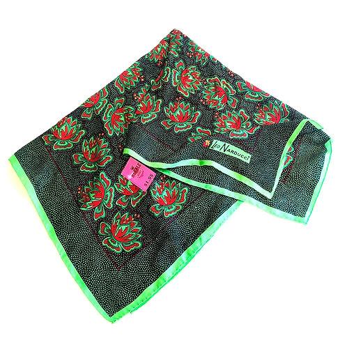 Silky Leo Narducci Green floral scarf