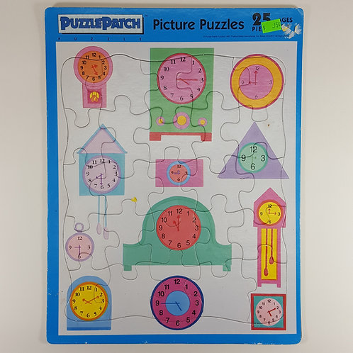 Puzzle Patch Board Puzzle - Clocks
