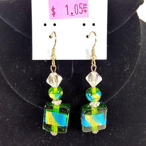 Emerald Green Stone Earrings