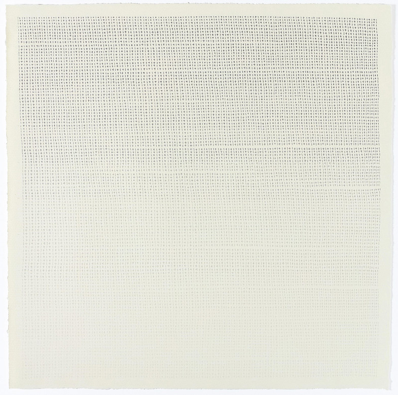070118, 2018  Pencil on hand made cotton paper, 48 x 48 in. (121.9 x 121.9 cm.)