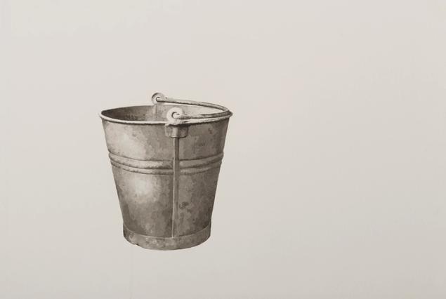 Still thinking 1 (Bucket I), 2020