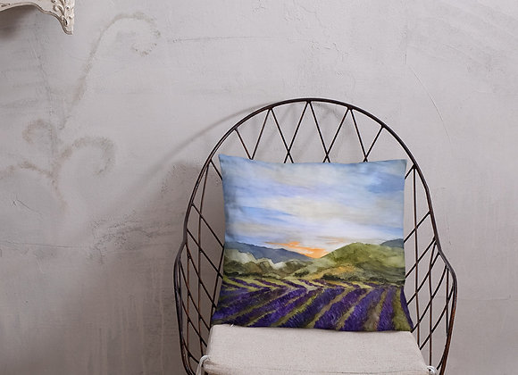 Summertime in Provence Square Pillow