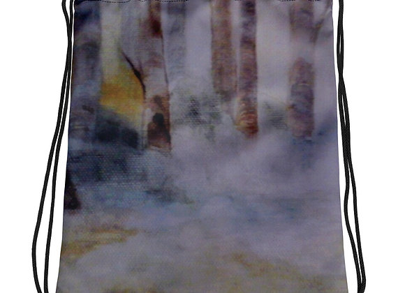 Morning in The Forest Drawstring bag