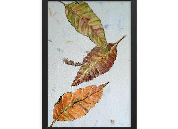 Falling Leaves Framed poster